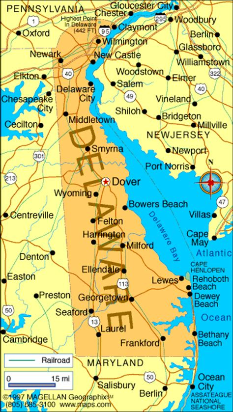 map  delaware america maps map pictures