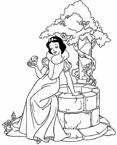 Coloring Princess Disney Colouring Pages Princesses Printable