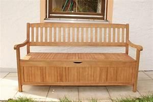 gartenbank truhenbank 3 sitzig aus eukalyptus 157 cm With garten planen mit sitzbank mit stauraum für balkon