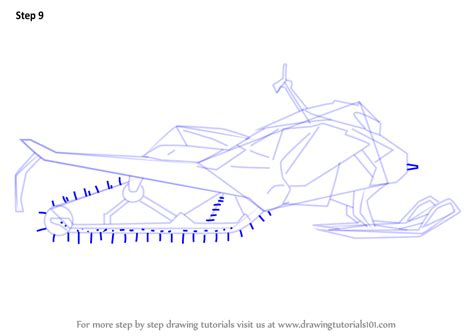learn   draw  simple snowmobile  step  step