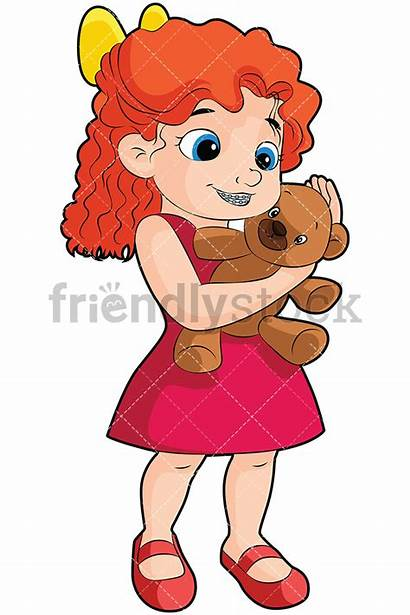 Teddy Bear Holding Clipart Braces Cartoon Hugging