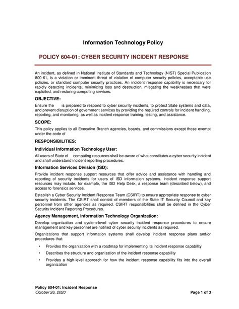 incident response policy fbi