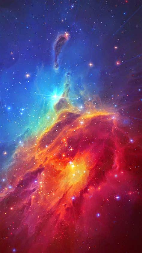stunning colorful space nebula iphone  wallpaper