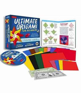 Ultimate Origami For Beginners Kit  Origami Book  Dvd  62 Papers