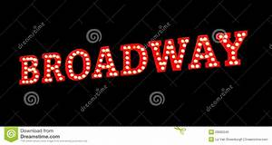 Broadway Lights Sign Royalty Free Stock Photo - Image ...
