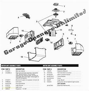 Stanley Model 1200 Garage Door Opener Parts