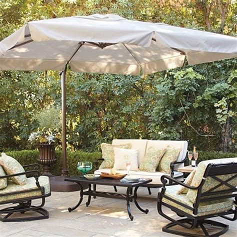 10 ft square side mount patio umbrella traditional