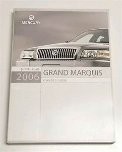 2006 Mercury Grand Marquis Owners Manual User Guide Gs Ls