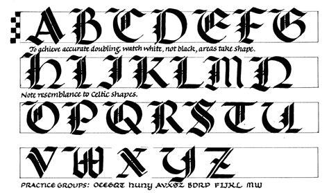 margaret shepherd calligraphy blog  redoubled gothic caps