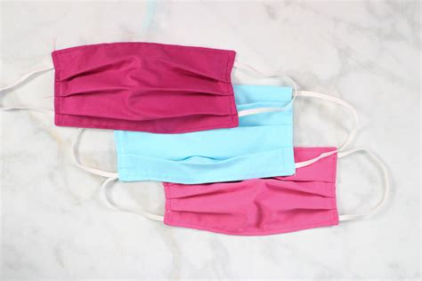 diy sewing tutorial fabric face mask sewing