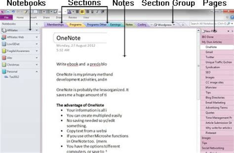onenote section template emba initiative an introduction to notebooks