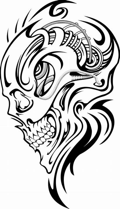 Skull Tattoo Tattoos Drawings Drawing Silhouette Stencil