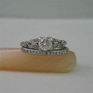 vintage diamond engagement ring and wedding band set platinum With vintage engagement ring and wedding band