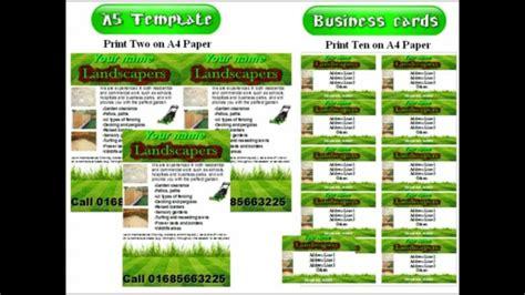 landscape gardening leaflets flyer template