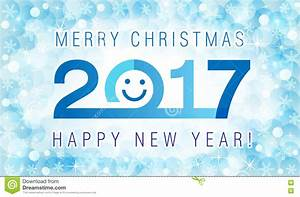 Merry Christmas And Happy New Year 2017 Smiling Face Card ...