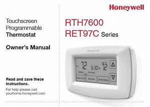 Honeywell Programmable Thermostat Rth7600d Manual