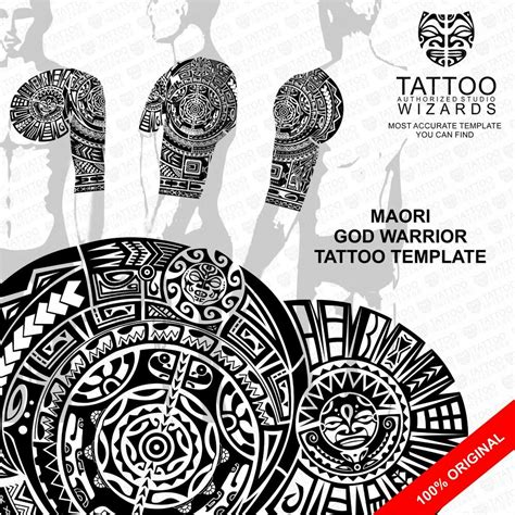 maori samoan polynesian god warrior tattoo stencil