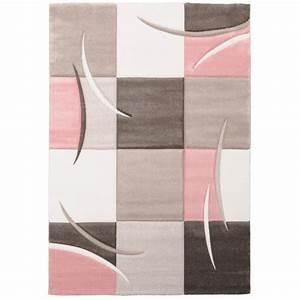 Salon Gris Et Rose : tapis de salon rose achat vente tapis de salon rose pas cher cdiscount ~ Preciouscoupons.com Idées de Décoration