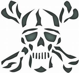 Skull Crossbones Stencil - ClipArt Best