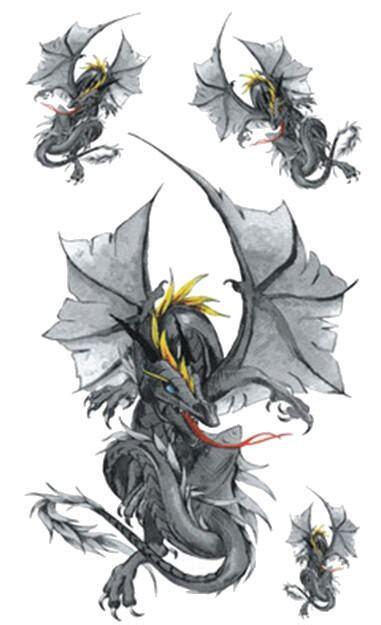 tatouage temporaire dragons hero kolawi