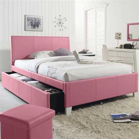 twin upholstered youth trundle bed  standard furniture