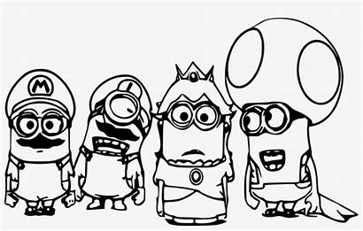 Mario Coloring Pages Super Minion Four Pngkey