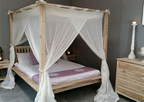 Canopy Rumple Muslin Mosquito Net For Balinese Four Poster