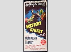 MYSTERY STREET Movie Poster 1950 Film Noir daybill