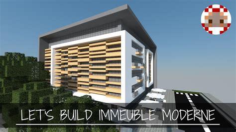 Construisons Un Immeuble Moderne !  Minecraft Youtube