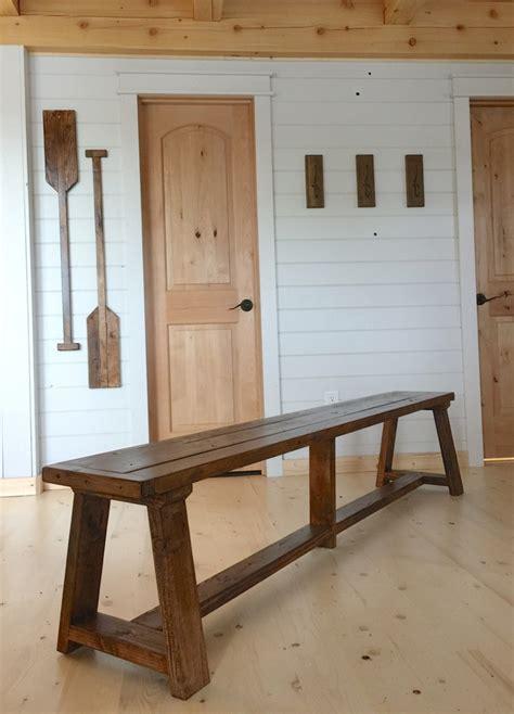 ana white  truss benches  alaska lake cabin diy