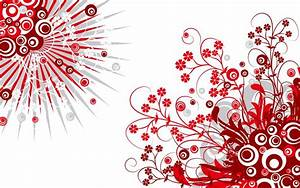 Red, Patterns, White Background wallpaper