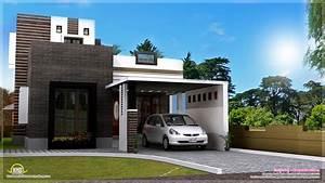 1200 Square Feet Contemporary Home Exterior Kerala Design