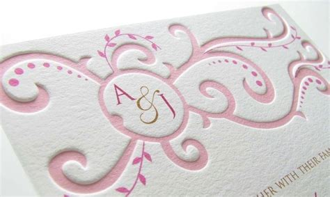 curves pressed  images scroll wedding invitations