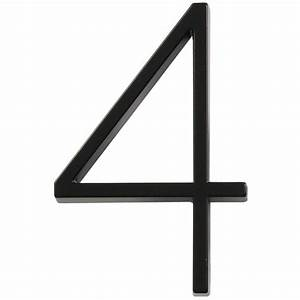Shop hillman 5 in black house number number 4 at lowescom for House letters lowes