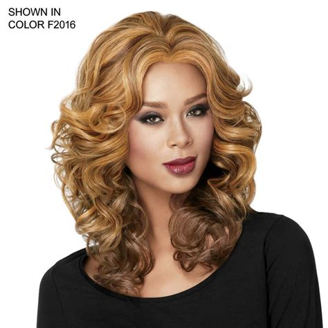 hair styles curly casual lace front curl wig by sherri shepherd luxhair 5372