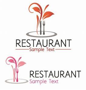 Restaurant logos with menu illustration vector 02 – Over ...