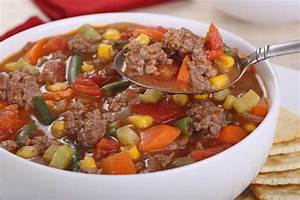 Wholesome and Quick Hamburger Soup Foodal com