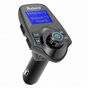 Auto Fm Transmitter : anbero bluetooth kfz fm transmitter freisprecheinrichtung ~ Kayakingforconservation.com Haus und Dekorationen