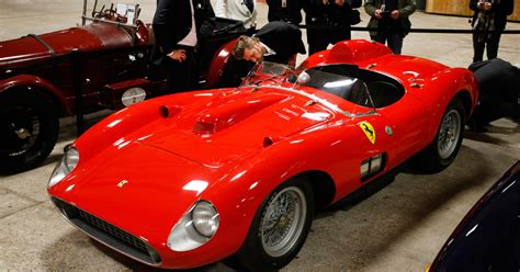 Match each sentence with the meaning expressed by the verb in italics. Buyer of $35.7 million Ferrari revealed: Sources