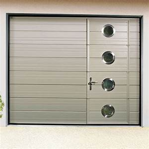 porte de garage sectionnelle avec portillon monsieur store With porte de garage enroulable avec porte de garage battant pvc