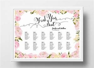 wedding seating chart poster template wedding table plan With bridal shower seating chart template