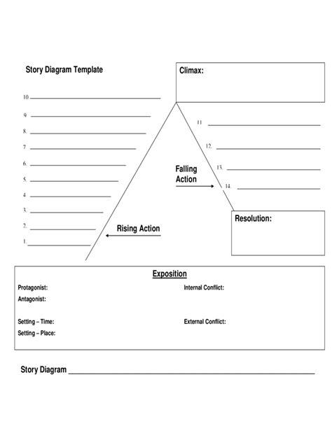 plot diagram template   templates   word