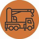 Crane Mobile Icon Cutting Edge