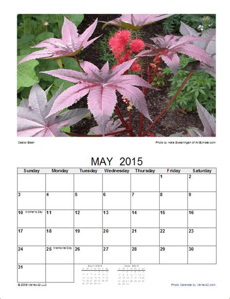 photo calendar template create  printable photo calendar