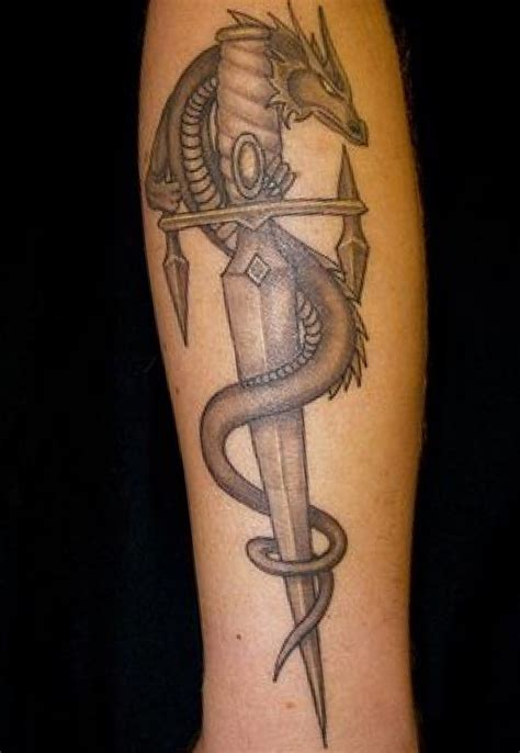Images For > Dragon Sword Tattoo Designs Tattoos