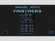 20182019 Carolina Panthers Wallpaper Schedule