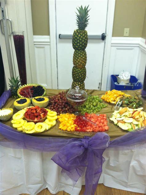 fruit table decor  pineapple centerpiece desserts