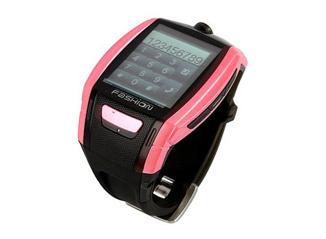 Quad Band Bluetooth Touch Screen Watch Cell Phone Pink And