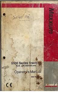 Case Ih Tractor Maxxum Pro 5120 5130 5140 5150 Operators