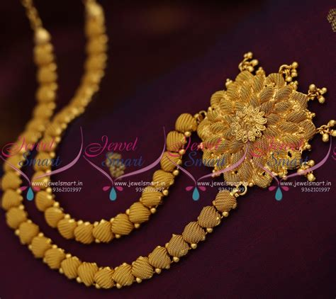 nl7948 emboss design simple gold plated haram necklace collections